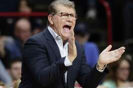 UConn women's basketball coach Geno Auriemma is happy to see former player and assistant coach Jamelle Elliott back at the school.