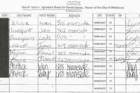 Windcrest Mayor Dan Reese said someone forged his signature, and the signature of his wife, on a petition submitted to the city on Tuesday asking for a recall election to oust Reese. He took it to police.