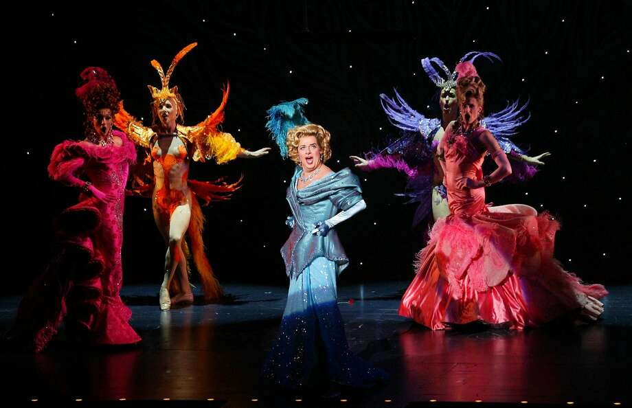 """Gary Beach (center) appears in the musical """"La Cage aux Folles"""" at the Marquis Theater in New York on Dec. 3, 2004. Beach, who died  at his home in Palm Springs, was nominated for a Tony for the revival. Photo: Sara Krulwich / New York Times 2004"""