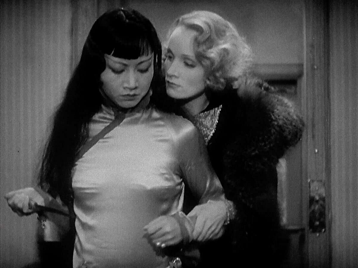"""Anna May Wong and Marlene Dietrich in """"Shanghai Express."""""""