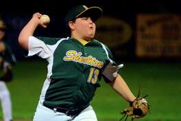 Shelton American's Austin Leifer pitches against Avon during Frdiay's Section 2 Little League playoff game in Naugatuck.