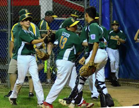 48844ad95 Shelton celebrates its win over Avon during District 2 little league  baseball action in Naugatuck