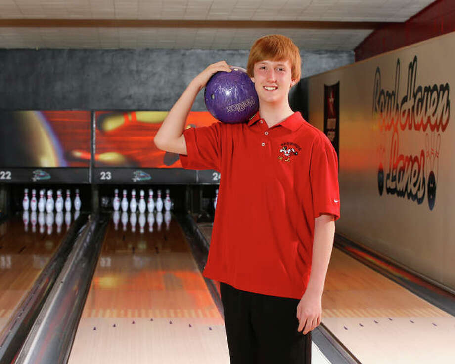 Alton High bowler Justin Milliman captured the individual championship at the Jersey Regional and helped the Redbirds eventually grab a state tourney berth. He is the 2018 Telegraph Boys Bowler of the Year., Photo:       Billy Hurst | For The Telegraph
