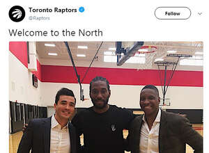 "@Raptors : ""Welcome to the North"""