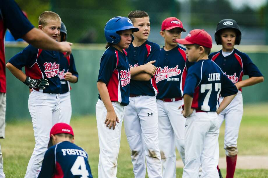 Fraternal Northwest players react to their minor Little League Baseball district final loss to Mt. Pleasant on Saturday, July 21, 2018 in Mt. Pleasant. (Katy Kildee/kkildee@mdn.net) Photo: (Katy Kildee/kkildee@mdn.net)