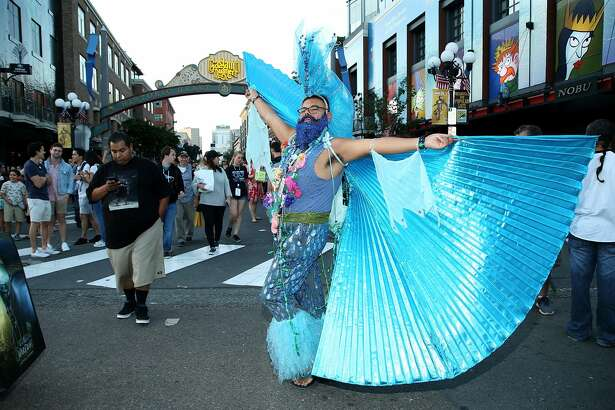 SAN DIEGO, CA - JULY 20: A fan in cosplay attends the 2018 Comic-Con International on July 20, 2018 in San Diego, California. (Photo by Phillip Faraone/Getty Images)