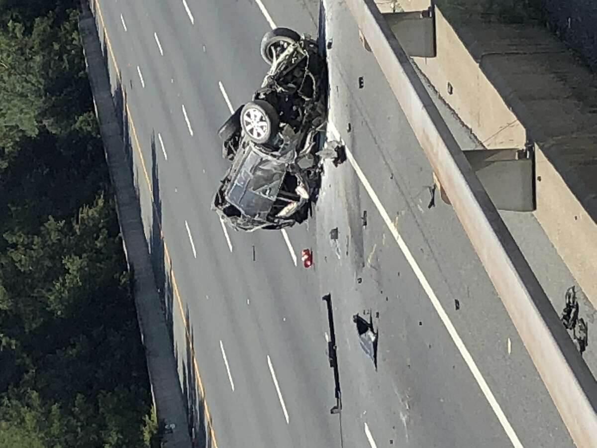 A sheriff?s chase ended early Saturday when the suspect vehicle crashed and caught fire. All westbound lanes of Highway 24 in Orinda were closed, authorities said.