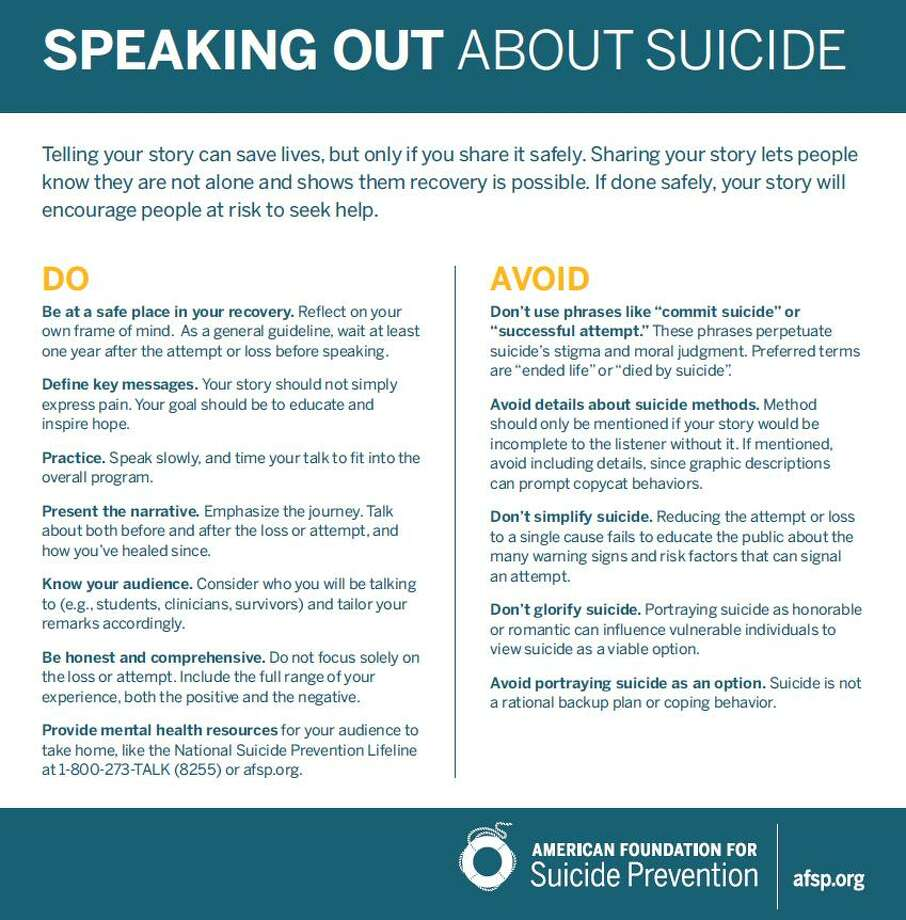 Suicide In The Woodlands Counselors Urge Using Proper Language