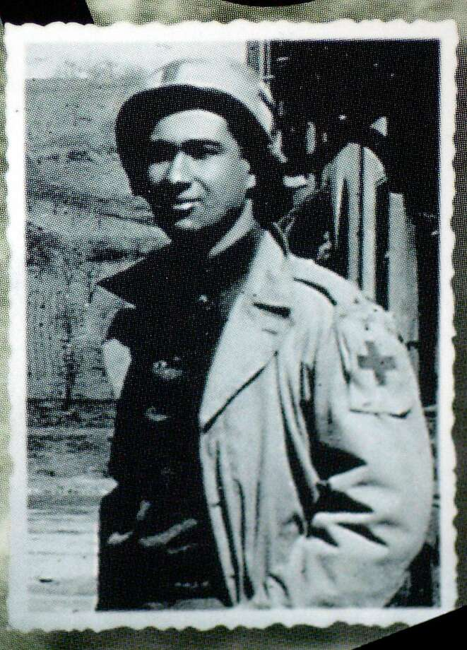 Leo Litwak as an Army medic in 1945 with the Rhine River in the background. Photo: Courtesy Litwak Family