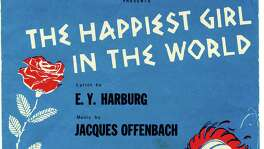 "This is the program from ""The Happiest Girl in the World,"" one of Music Theater Inc.'s summer 1967 shows, staged in the auditorium of the Witte Museum."