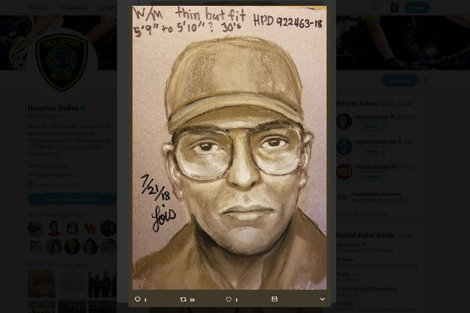 A day after a beloved Houston cardiologist was gunned down while biking to work in the Texas Medical Center, Houston police have released a sketch of the person of interest. via @Houstonpolice on Twitter
