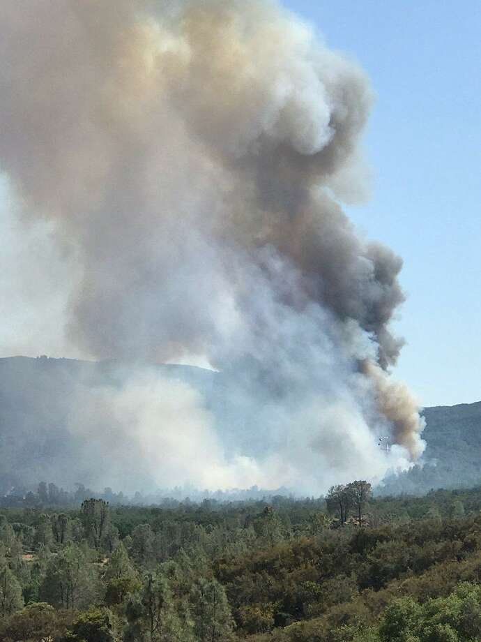 A fast-buring wildfire prompted residents near Kelseyville to evacuate on Saturday afternoon. Photo: /