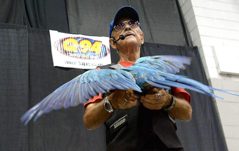 Sonny the Birdman performs at the Baby and Family Expo at the Civic Center. A number of vendors, informational booths, snacks and children's activities rounded out the show for families.   Saturday, July 21, 2018  Kim Brent/The Enterprise Photo: Kim Brent / The Enterprise / BEN