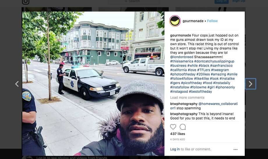 Viktor Stevenson said that he had the San Francisco Police Department called on him earlier this week while he was opening his lemonade stand in the Mission District because someone in the neighborhood thought he was breaking into his own business. Photo: Screengrab Via Instagram