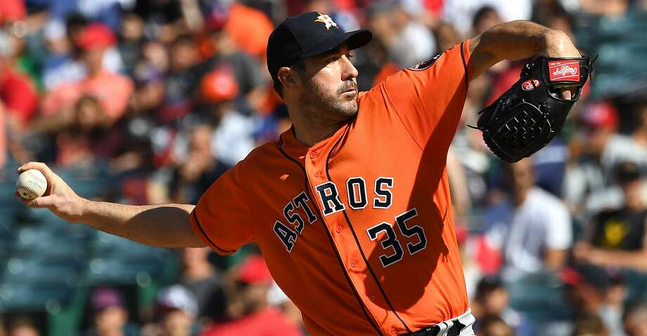 ANAHEIM, CA - JULY 21:  Justin Verlander #35 of the Houston Astros pitches in the first inning against the Los Angeles Angels of Anaheim at Angel Stadium on July 21, 2018 in Anaheim, California.  (Photo by Jayne Kamin-Oncea/Getty Images) Photo: Jayne Kamin-Oncea/Getty Images