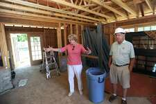 Melissa Mulrooney, the Executive Director & CEO of the Stamford Museum & Nature Center, gives a tour of the still-under-construction $5 million farmhouse, which will primarily be used for environmental education programs, in Stamford, Conn. on Thursday, July 19, 2018. The 4,000-square-foot farmhouse, complete with a deck overlooking Heckscher Farm, will host approximately 600 programs each year for both children and adults.