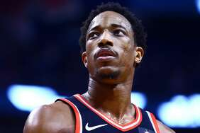 DeMar DeRozan was traded to the Spurs from the Raptors in exchange for Kawhi Leonard.