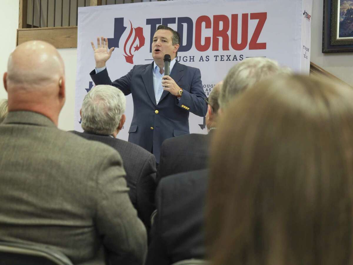 U.S. Sen. Ted Cruz, seen in Midland on April 4, is leading Democratic challenger U.S. Rep. Beto O'Rourke by only 2 percentage points according to a recent poll.