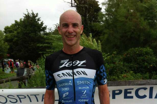 Gus Ellison of Rowayton won the Hospital for Special Surgery Greenwich Cup Triathlon Sunday at Greenwich Point.