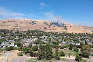 A grass fire broke out in Milpitas Sunday and swelled to more than 150 acres.