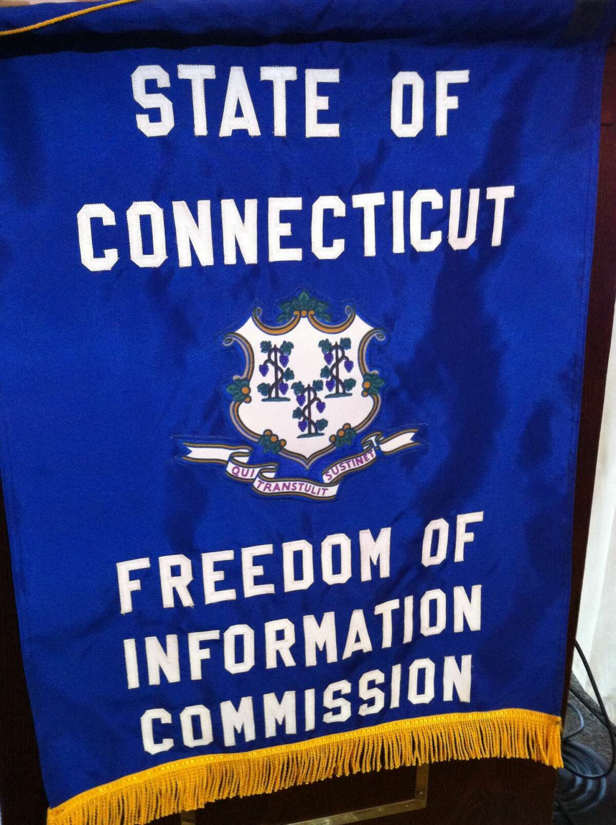 Sign for the Connecticut Freedom of Information Commission.