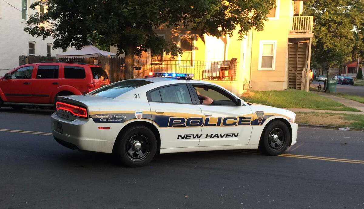 A New Haven police cruiser.