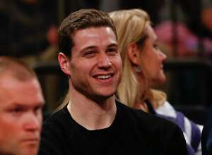 NEW YORK, NY - MARCH 29:   Jimmer Fredette looks on as the Brigham Young Cougars play the Valparaiso Crusaders during their NIT Championship Semifinal game at Madison Square Garden on March 29, 2016 in New York City.  (Photo by Jeff Zelevansky/Getty Images) ORG XMIT: 610824375