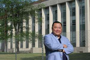 Bruno Wu, chairman and CEO of Seven Stars Cloud, at the UConn West Hartford campusthat he is buying and hopes to convert into an incubation hub for blockchain technology companies.