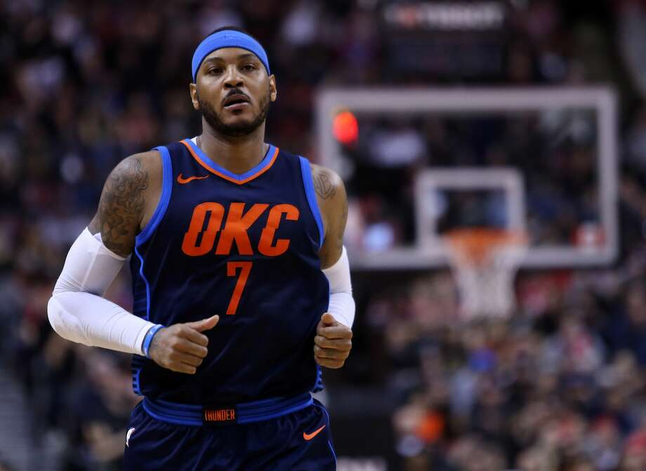 With the three-team deal to send Carmelo Anthony from Oklahoma City to Atlanta and subsequently to free agency complete, the Rockets moved a step closer to landing the 10-time All Star on Wednesday.  (Photo by Vaughn Ridley/Getty Images)