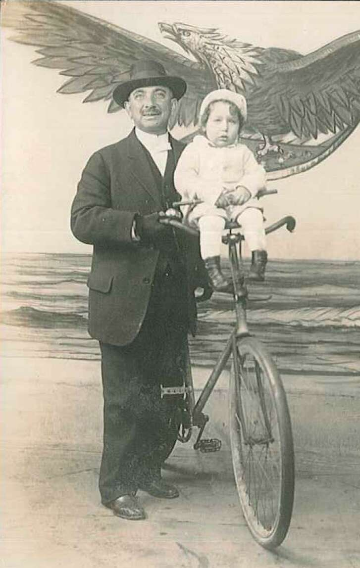 Rabbi Henry Cohen, who bicycled through the streets of Galveston, served for 64 years tenure atCongregation B'nai Israel. The rabbi, a British immigrant who dressed in a fine suit atop his  bicycle, was known as an activist and a scholar.