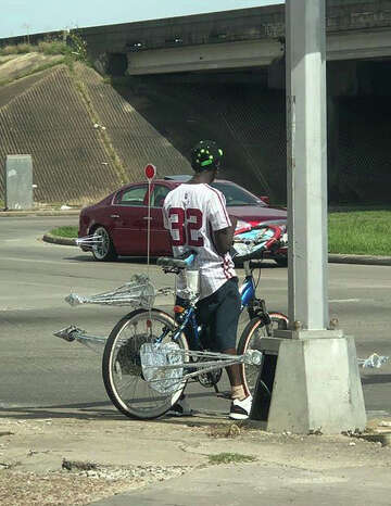 Bikes don't get much more Houston than this