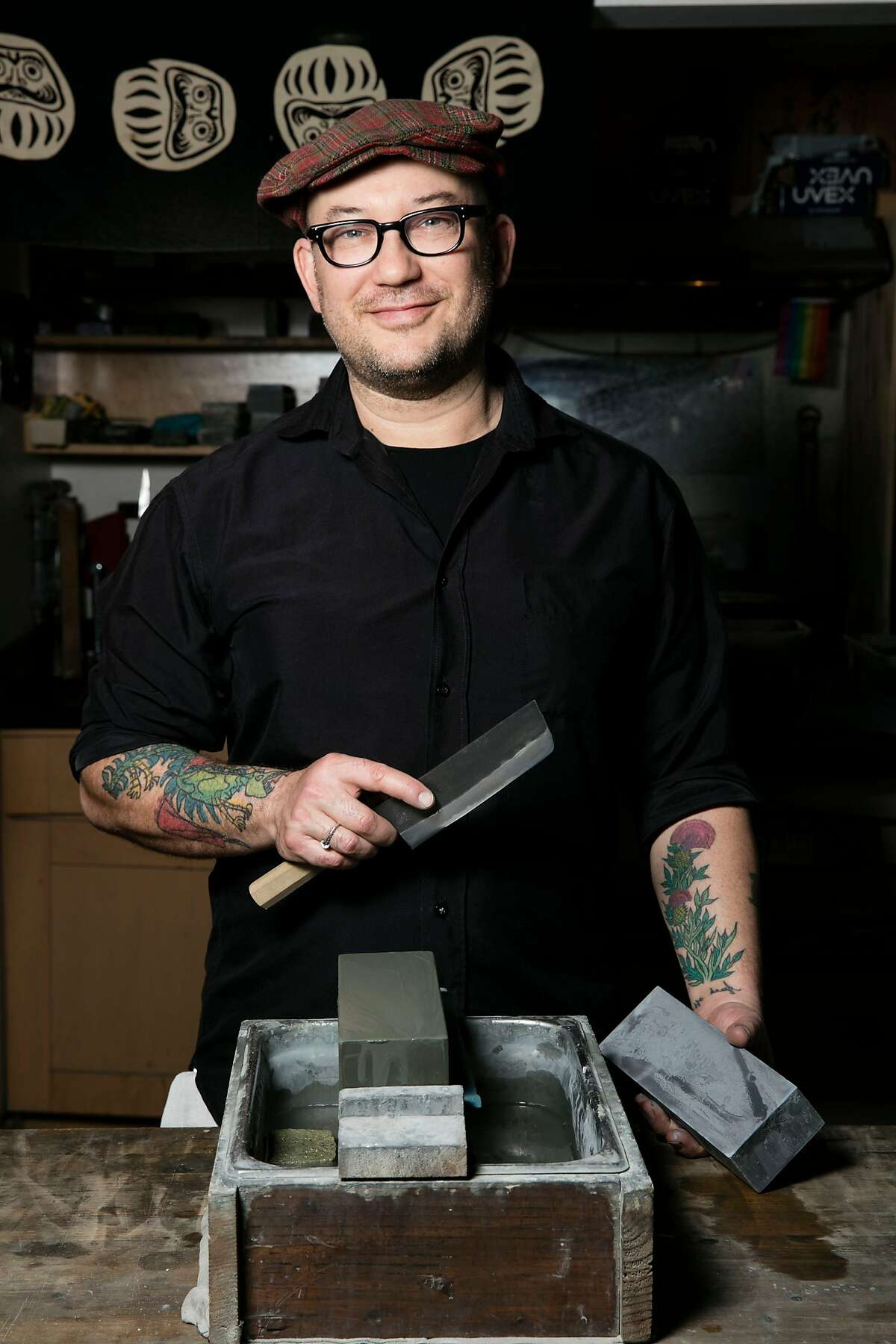 """Bernal Cutlery's Josh Donald is the author of new book, """"Knives: The Definitive Guide to Knives, Knife Care, and Cutting Techniques, with Recipes from Great Chefs"""" (Chronicle Books; $27.50)"""