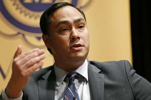 U.S. Rep. Joaquin Castro, D-San Antonio, speaks during the Making the Grade: A Conversation with Julian, Joaquin, and Rosie Castro event held Monday Feb. 19, 2018 at the Prothro Theater in the Harry Ransom Center on the University of Texas at Austin campus in Austin, Tx.