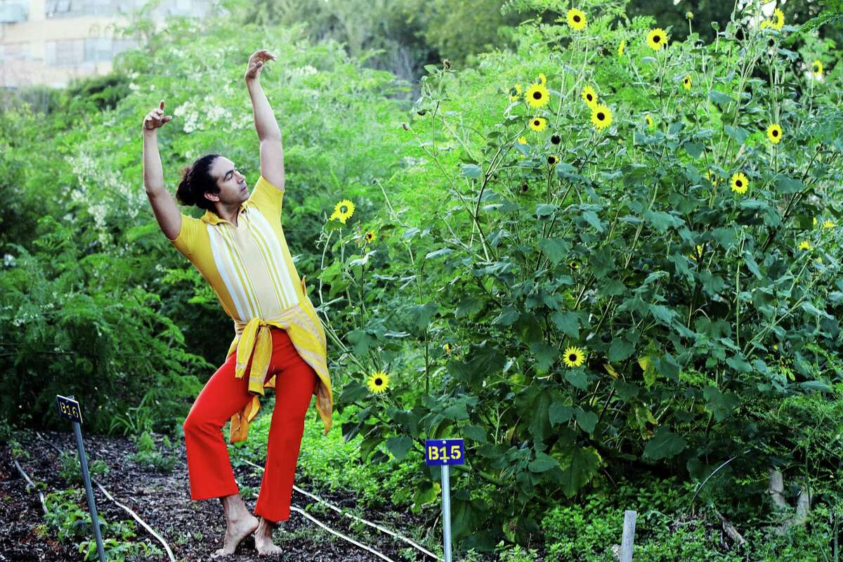 """Adam Castaneda and other members of the Pilot Dance Project perform Lori Yuill's site-specific """"Green Zebras"""" this weekend in the East End."""