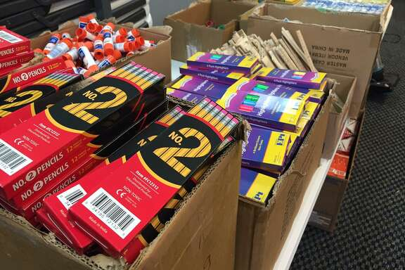 As part of the Katy Christian Ministries Red Apple School Supplies Program, supplies are ready to help children in need start the school year strong.