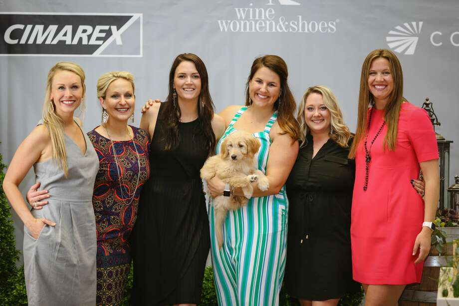 Wine, Women & Shoes: Elizabeth Kidney, from left, Andra Jones, Courtney Barry, Bridget Green, Brandi Wheeler and Brianna Bertelson Photo: Courtesy Photo