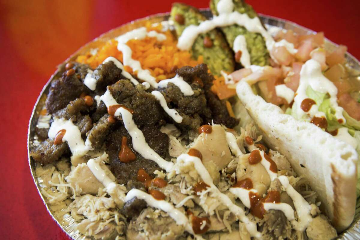 The Combo Plate with extra falafel at The Halal Guys, which is opening a new store in fall 2019 at 3008 Ella Blvd., Houston