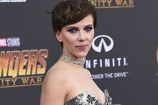 """FILE - In this April 23, 2018 file photo, Scarlett Johansson arrives at the world premiere of """"Avengers: Infinity War"""" in Los Angeles. Johansson has pulled out of the film """"Rub & Tug"""" after her plans to portray a transgender man prompted a backlash. (Photo by Jordan Strauss/Invision/AP, File)"""