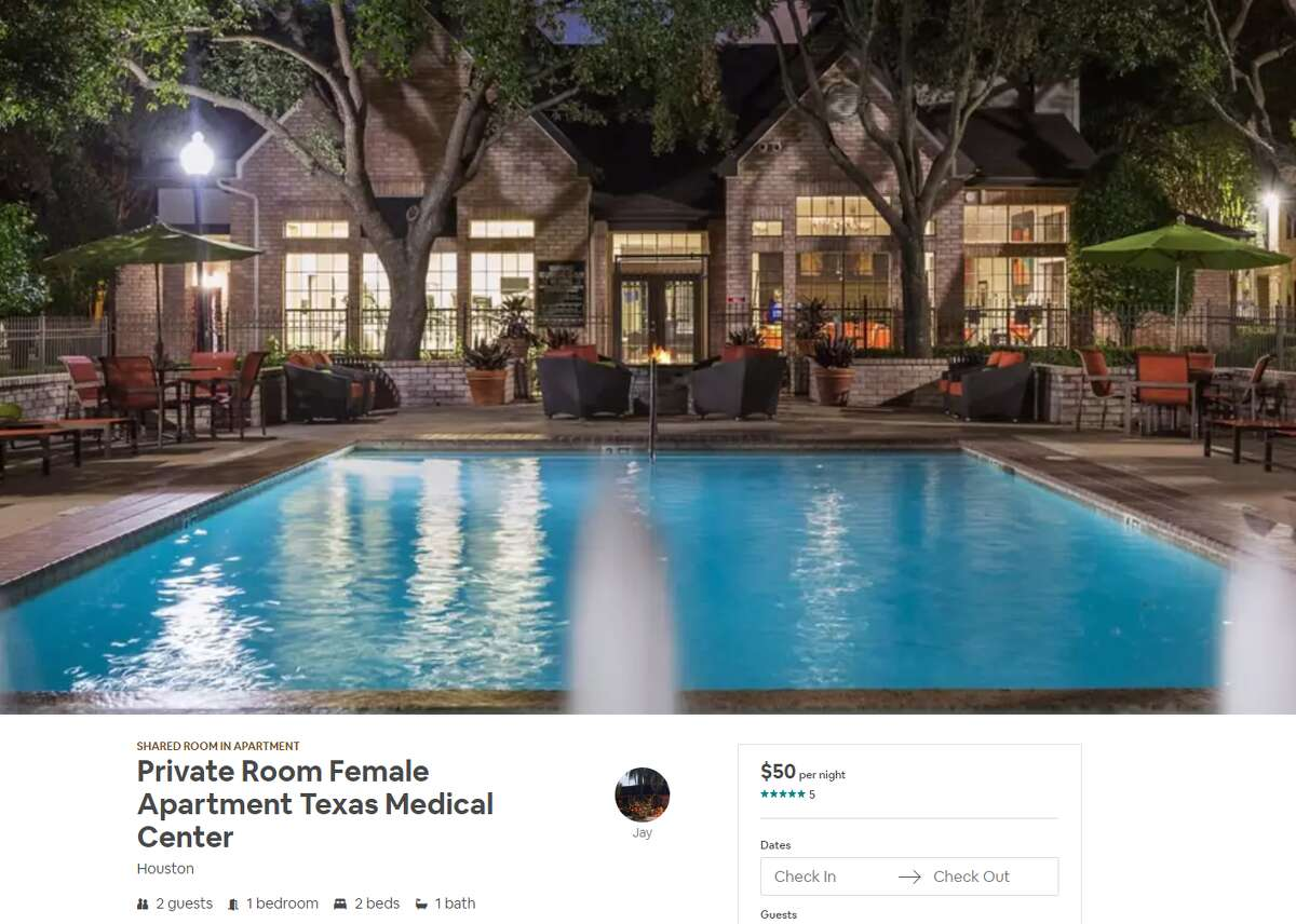 Shared room Neighborhood: Texas Medical Center Average Daily Rate: $51 Link: https://www.airbnb.com/rooms/18806402