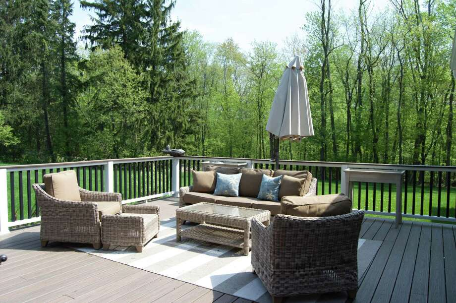 The home includes a 40-by-20-foot Trex deck. Photo: Berkshire Hathaway HomeServices New England Properties