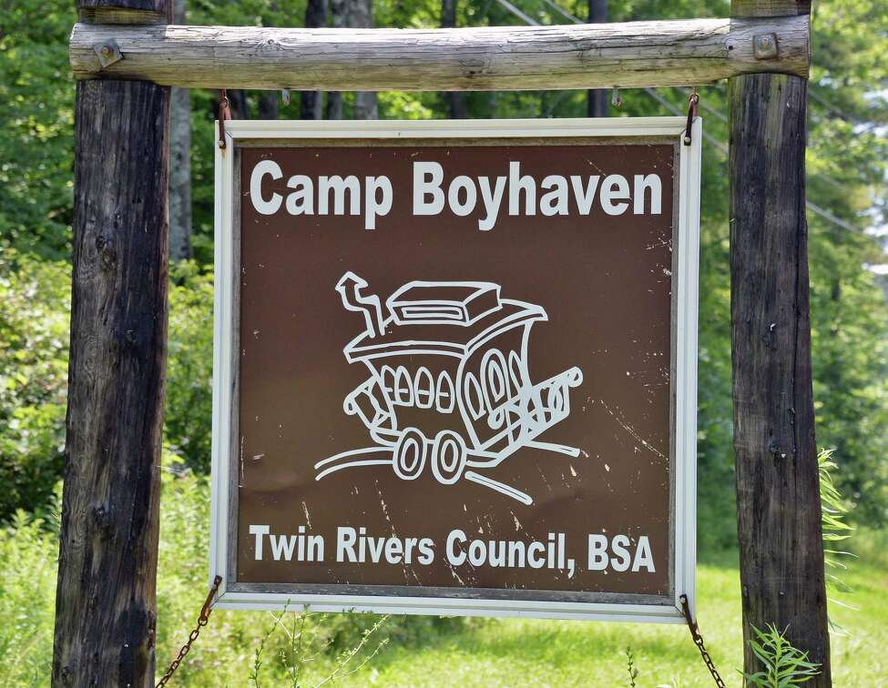 Sign at the old boy scout camp of Boy Haven Wednesday July 19, 2017 in Milton, NY. (John Carl D'Annibale/Times Union archive)