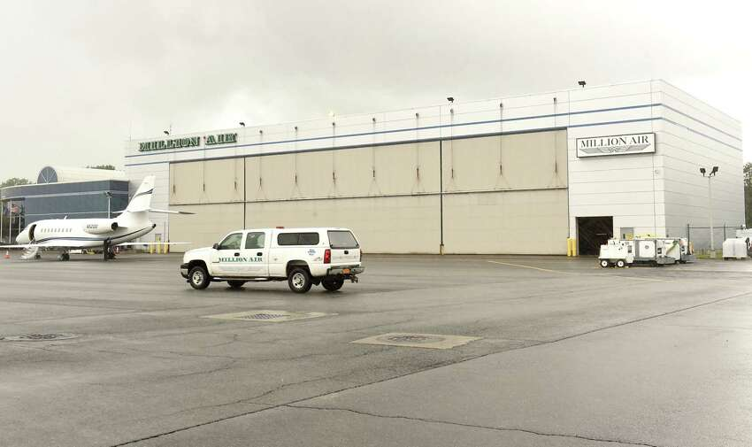 The Million Air hanger will be getting larger doors which will slide and a new sprinkler system at the Albany International Airport on Monday, July 23, 2018 in Colonie, N.Y. (Lori Van Buren/Times Union)