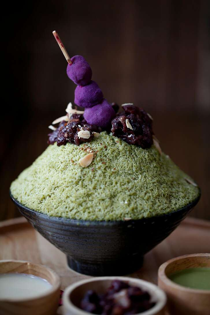 Matcha Kakigori (Japanese Snow Ice) featured at U:Dessert Story on Sunday, July 22, 2018 in San Francisco, Calif.