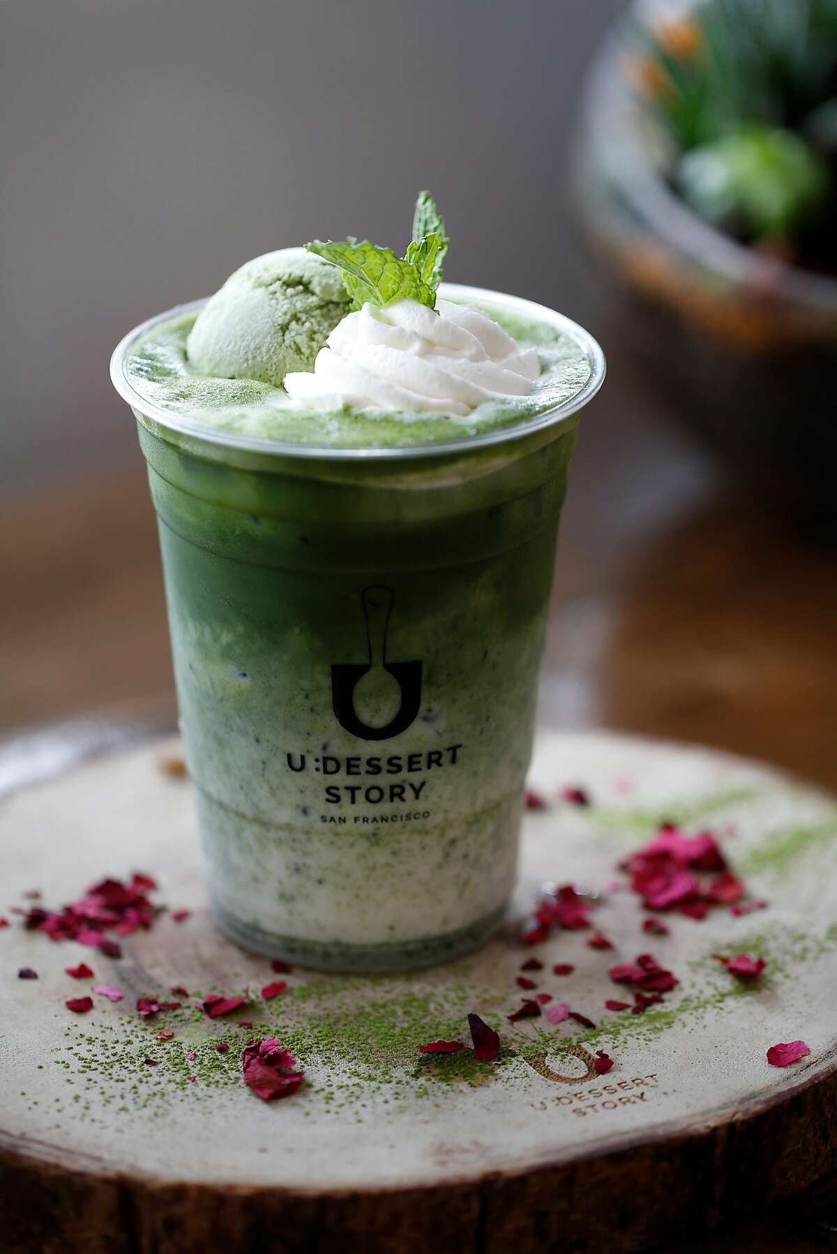 The Matcha Float is featured at U:Dessert Story on Sunday, July 22, 2018 in San Francisco, Calif.