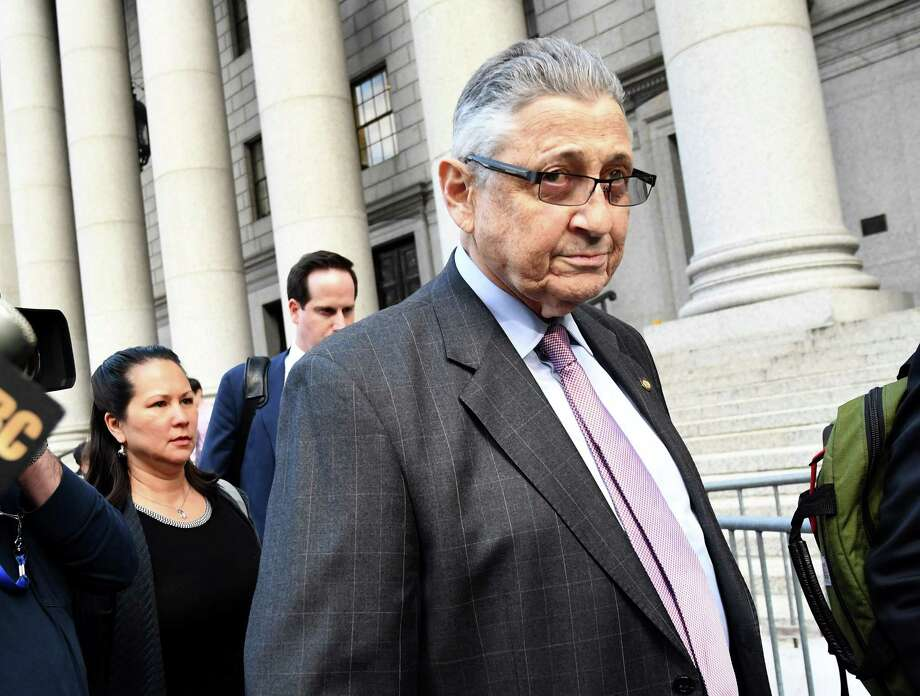 Sheldon Silver, former speaker of the New York State Assembly, exits from federal court in New York, U.S., on Friday, May 11, 2018. Silver was found guilty of federal corruption charges on Friday. Photographer: Louis Lanzano/Bloomberg Photo: Louis Lanzano / © 2018 Bloomberg Finance LP