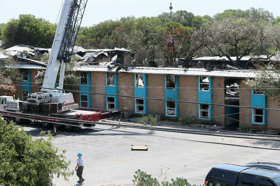 Fire Officials Inspect Building 500 At The Iconic Village Apartments In San Marcos On Monday