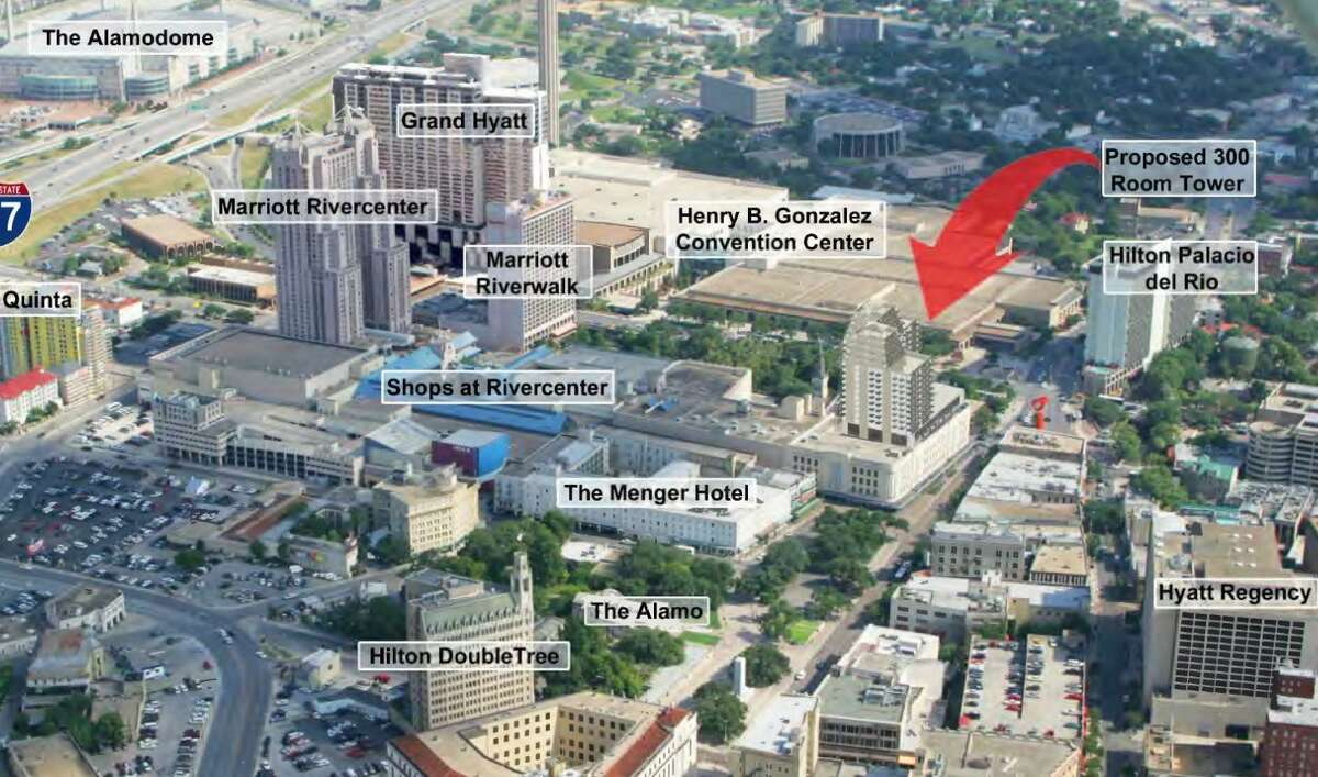 The Hard Rock Hotel's 14 stories will be atop the four-story Joske's building, so the structure will be a total of about 18 stories tall, according to design renderings provided by JMJ.
