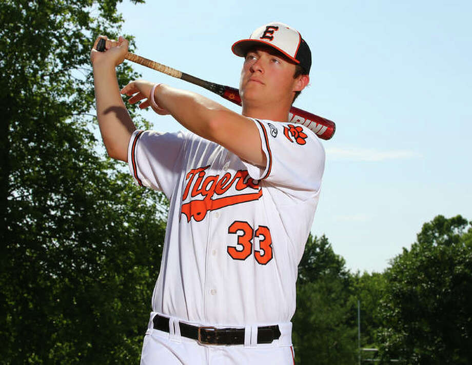 Edwardsville's Drake Westcott became the fourth player in Tigers history to hit better than .500 in a sophomore season that saw the prep All-American earn recognition as 2018 Telegraph Large-Schools Baseball Player of the Year. Photo:       Billy Hurst / For The Telegraph