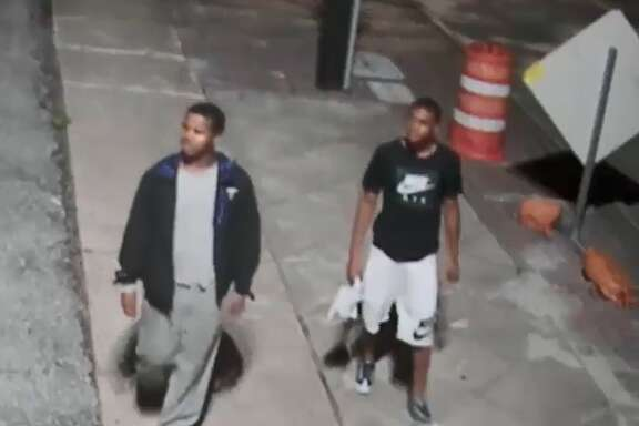 Houston police are searching for several suspects in their late teens who robbed two people sitting in vehicles near a Midtown bar at about 2 a.m. on June 22, 2018.