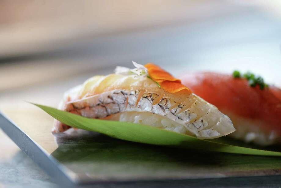 Chef's nigiri sushi at Tobiuo Sushi & Bar in Katy. Photo: Dragana Harris / Kimberly Park